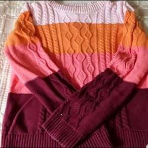 Tommy Hilfiger Girls Sweater Red/Pink Size…